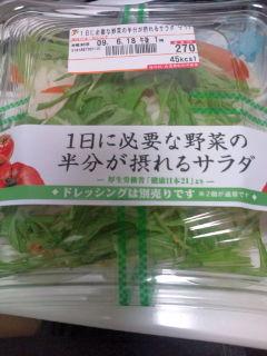 一日に必要な野菜の半分がとれるサラダ