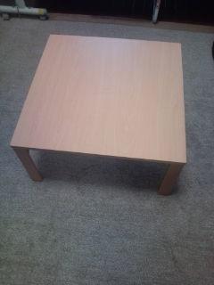 やっと来たテーブル