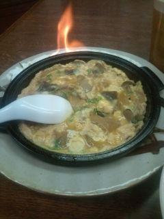 燃える柳川鍋