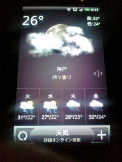火曜と水曜の天気がすごい
