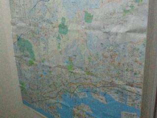 トイレの地図様