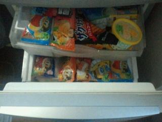 冷凍庫の惨状?